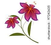 lily violet | Shutterstock .eps vector #97242635