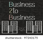 business to business b2b... | Shutterstock . vector #97243175