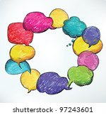 bubble speach in vector | Shutterstock .eps vector #97243601