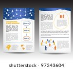 template for business brochure  ... | Shutterstock .eps vector #97243604