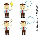 cartoon business man in vector | Shutterstock .eps vector #97243619