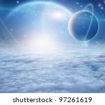 atmosphere and planets | Shutterstock . vector #97261619