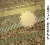 vector spring retro scrapbook...   Shutterstock .eps vector #97273388