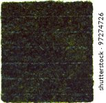 nori dried sheet isolated over ... | Shutterstock . vector #97274726