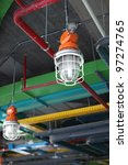 industrial lamp and hvac system   Shutterstock . vector #97274765