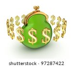 dollar signs around idea symbol.... | Shutterstock . vector #97287422