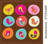 collection of cute decorative... | Shutterstock . vector #97291469