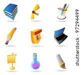 icons for education. raster... | Shutterstock . vector #97294499