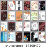 mix collection flyers | Shutterstock .eps vector #97308470