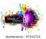 music background vector ... | Shutterstock .eps vector #97312715
