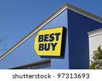 PLEASANT HILL - MARCH 5: Best Buy store sign. Best Buy is an electronics retailer accounting for 19% of the U.S. market. March 5, 2012, Pleasant Hill, CA - stock photo