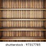 wooden book shelf | Shutterstock . vector #97317785