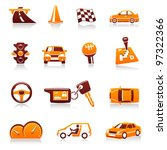 cars and automotive vector icon ... | Shutterstock .eps vector #97322366