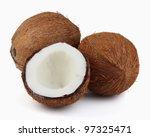 Coconut in closeup - stock photo