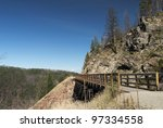 Trestle In Myra Canyon  Canada