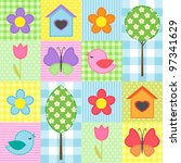 Spring Background With Flowers  ...