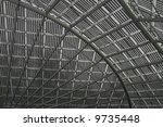 Solar panel structure - stock photo