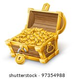 vector illustration of treasure ...