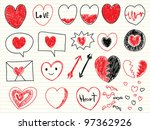 collection of hand drawn sketch ... | Shutterstock .eps vector #97362926