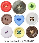 various sewing buttons with a... | Shutterstock . vector #97368986
