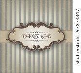 vintage frame | Shutterstock .eps vector #97374347