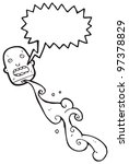 gross severed head cartoon | Shutterstock . vector #97378829