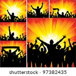 set of posters for sports... | Shutterstock .eps vector #97382435