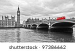 Red Bus On Westminster Bridge...