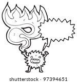 cartoon furry little monster | Shutterstock . vector #97394651