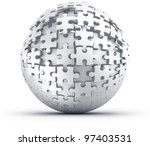 3d rendering of a spherical... | Shutterstock . vector #97403531