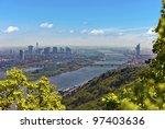 skyline of vienna and danube... | Shutterstock . vector #97403636