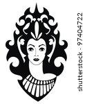 vector decorative silhouette of ... | Shutterstock .eps vector #97404722