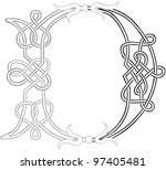 a celtic knot work capital... | Shutterstock .eps vector #97405481
