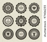 vintage style retro emblem... | Shutterstock .eps vector #97406255