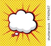 speech bubble in pop art style   Shutterstock .eps vector #97409657