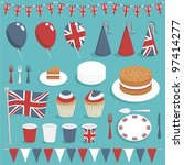 collection of united kingdom... | Shutterstock .eps vector #97414277