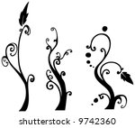 floral design elements... | Shutterstock .eps vector #9742360