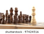 chess on a white background | Shutterstock . vector #97424516