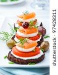 salmon snack | Shutterstock . vector #97428311