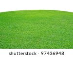 curved field of green grass on... | Shutterstock . vector #97436948