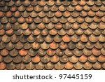 Old Red Brick Roof Tiles From...