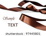 Elegant Chocolate Brown Satin...