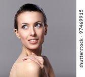 portrait of beautiful female... | Shutterstock . vector #97469915