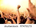 cheering crowd at concert | Shutterstock . vector #97470173