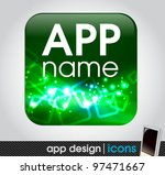 blank app icon for mobile... | Shutterstock .eps vector #97471667