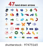 set of hand drawn arrows | Shutterstock .eps vector #97475165