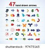 set of hand drawn arrows | Shutterstock .eps vector #97475165