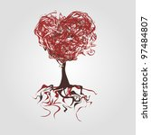 heart shaped tree   Shutterstock .eps vector #97484807