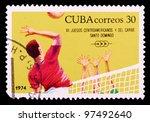 cuba circa 1974  the postal...   Shutterstock . vector #97492640