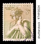 czechoslovakia   circa 1954  a... | Shutterstock . vector #97493024